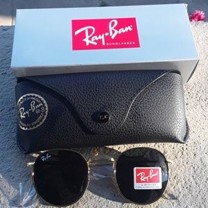 Brand New Black RayBan Metal Rounds 50mm